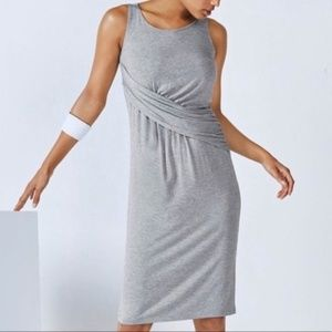 Fabletics Dress Small Retta Midi Gray NWT